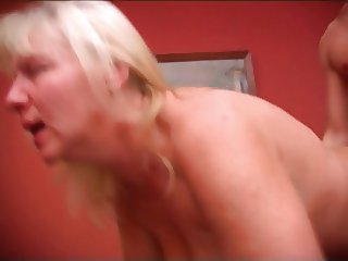 Old teacher with thick ass & saggy tits fucked on the table