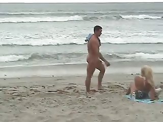 Cute Guy With Big Erect Dick On The Beach