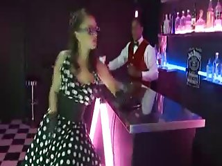 Liza Sodomise Ass Fucked at the Bar