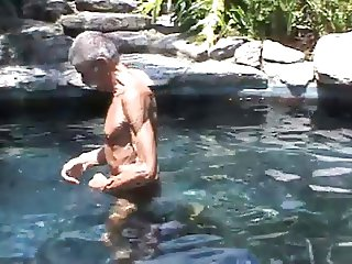 My two old friends fucking in the pool!!