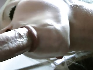 Bianca gets fucket on her back, doggy and cum on her face