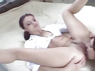 Lesbian Ass Licking, Tongue Fucking and Rubbing 1 Out