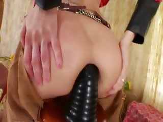 Brutal butt threesome with cowboy