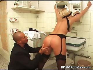 Blonde old milf got fucked and tortured part4