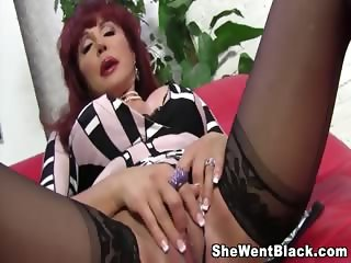 Mature Sexy Vanessa has interracial sex with a big black cock