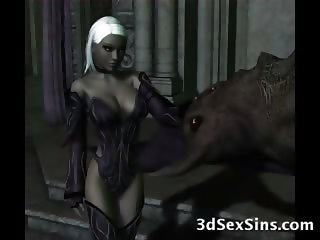 3D Monsters Fucking Elf Girls!