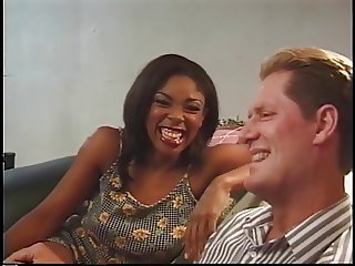 Black amature fucked hard on the sofa