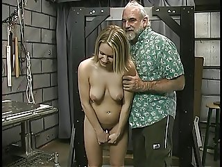 Blonde with hot pierced tits gets tortured