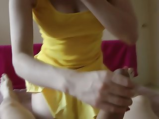 Yellow Skirt BJ and Fuck