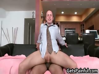 Cute gay guy blows big fat black schlong part5