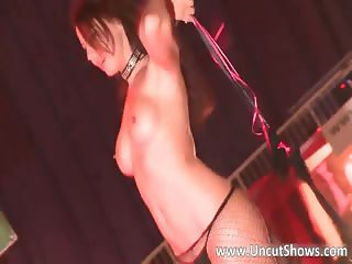 Amazing brunette skank is stripping part4