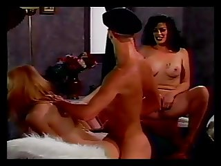 Tranny with a slut and a guy