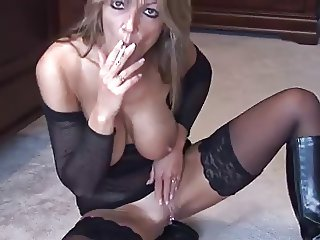 Blonde Smoking and Fingering 2