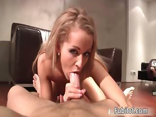 Horny amateur blonde fucked hard part4