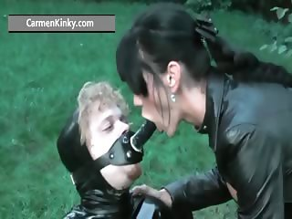 Kinky Carmen enjoys having fun in latex part3