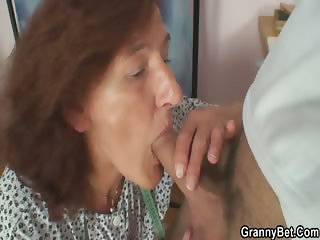 He bangs old seamstress from behind