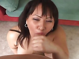 chubby asian with her pierced pussy fucked