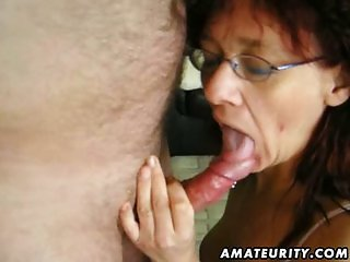 Hot amateur slut sucks and fucks