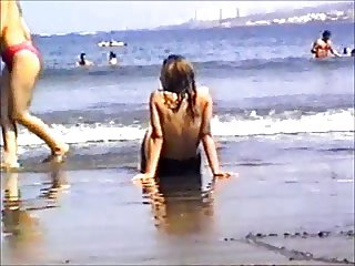 Topless Girl at the beach