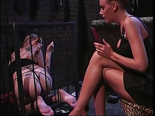 2 smoking hot chicks into bondage & foot fetish