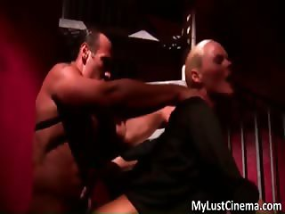 Awesome blonde babe gets fucked hard part5