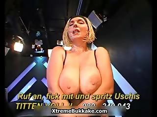 Busty blonde slut goes crazy sucking part3