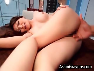 Awesome asian brunette hoe is sucking part3