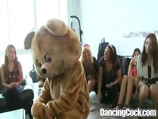 Bachelorette Loft Party on dancing cock