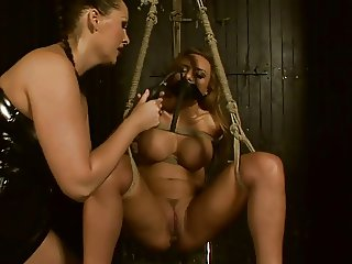 Busty Mistress vs Squirting Slave