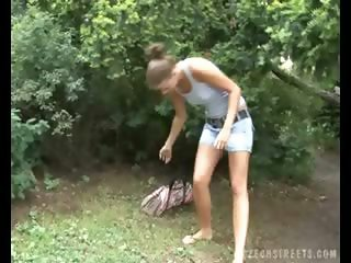 CZECH STREETS - CZECH BLOND GIRL PICKED UP IN PARK