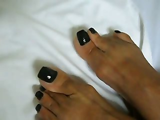 Jane Ebony Feet With Black Nails