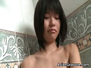 Cute asian with great body taking a bath part4