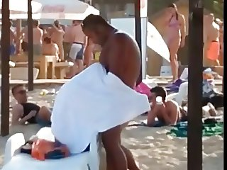 Blowjob on the  Bulgarian beach!