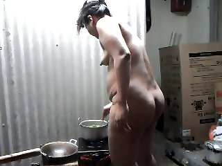 naked cooking at home