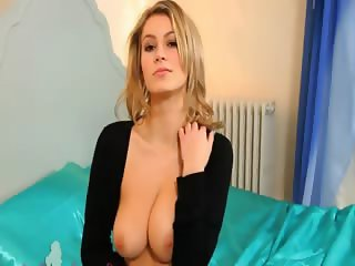 Blonde slut with unbelievable lingerie