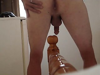 Anal Insertion Bed Post Knob Gaping Arse Toying ass plug