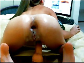 Cam girl shows her ass and pussy gape with squirt by M.D.F