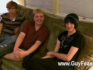 Aron, Kyle and James are hanging out on the ottoman and willing to