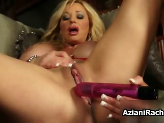 Hot milf with huge tits toying part4