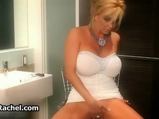 Busty blonde slut shows off her horny part3