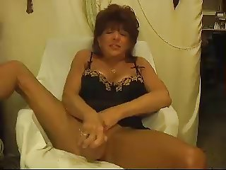 Hot Mature Cougar Solo Teasing and Toying