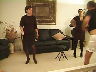 Caned by Two Strict Ladies
