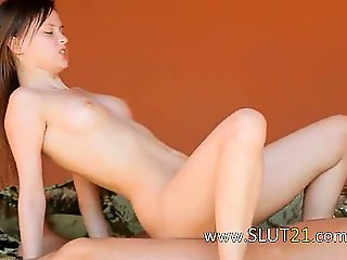 Too big cock into her hairy anus hole