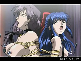 Gorgeous hentai sex slaves in ropes get sexually tortured