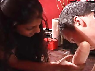 Indian and white misstresses strapon a guy