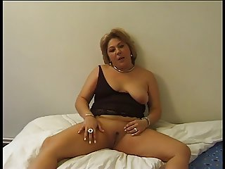 Young guy cums to soon so she masturbates