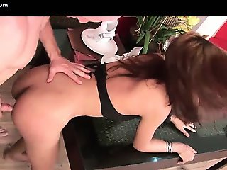 Asian ladyboy pounding a dude ass