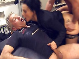 Lusty brunette in her first time anal sexperience