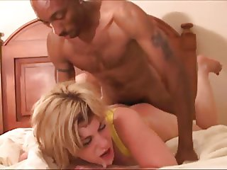 Amateur Blonde Whore Takin BBC Cream pies Cuckold