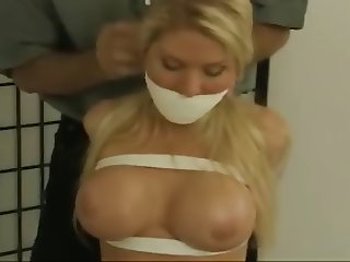 Hot Busty Blonde Bound and Gagged